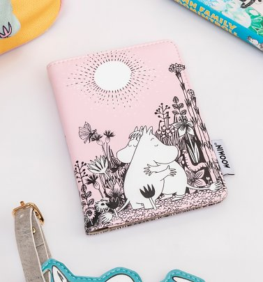 Pink Moomin Love Passport Holder
