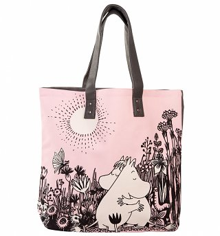 Pink Moomins Love Shopping Bag from Disaster Designs