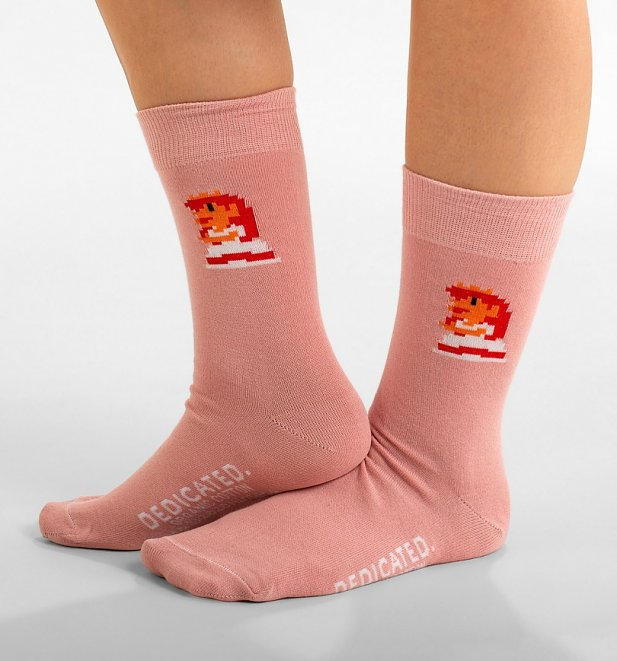 Pink Nintendo Super Mario Princess Peach Organic Cotton Socks from Dedicated
