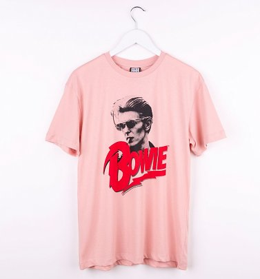 Pink David Bowie New Romantic T-Shirt from Amplified