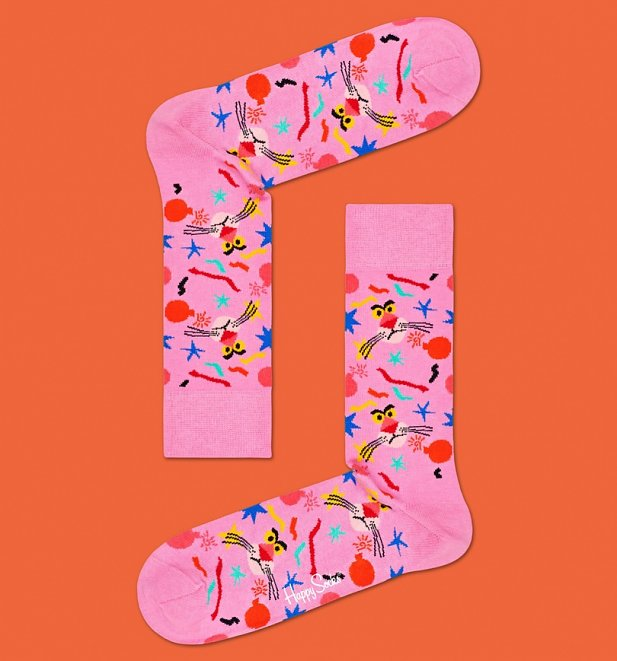 Pink Panther Bomb Voyage Socks from Happy Socks