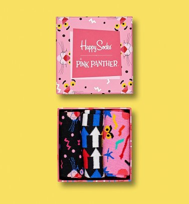 Pink Panther Socks 3 Pack Gift Box from Happy Socks