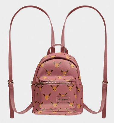 Pink Pokemon Eevee All Over Print Mini Backpack from Difuzed