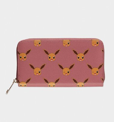 Pink Pokemon Eevee All Over Print Wallet from Difuzed