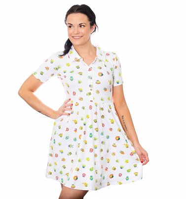 Pixar Aliens Remix All Over Print Button Up Dress from Cakeworthy