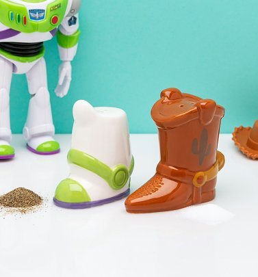 Pixar Toy Story Buzz and Woody Boot Salt and Pepper Shakers