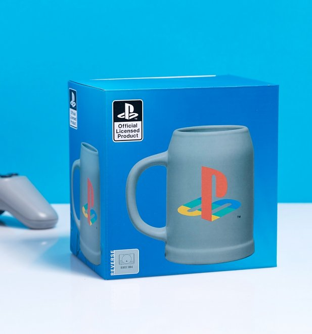 Playstation Logo Ceramic Stein Mug