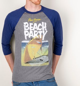 Point Horror Beach Party Raglan Baseball T-Shirt
