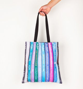 Point Horror Inspired Book Spines Edge To Edge Premium Tote Bag