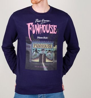Point Horror Funhouse Oxford Navy Sweater