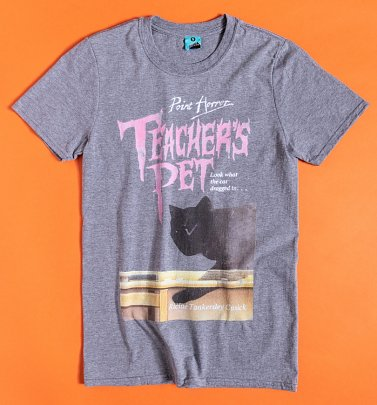 Point Horror Teacher's Pet Grey Marl T-Shirt