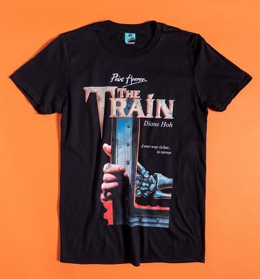 Point Horror The Train Black T-Shirt