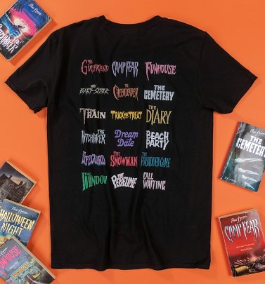 Point Horror Titles Collection Black T-Shirt