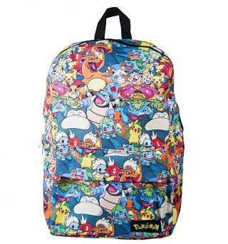 Pokemon Characters All Over Print Backpack