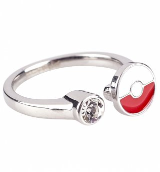 Pokemon Pokeball Gem Ring