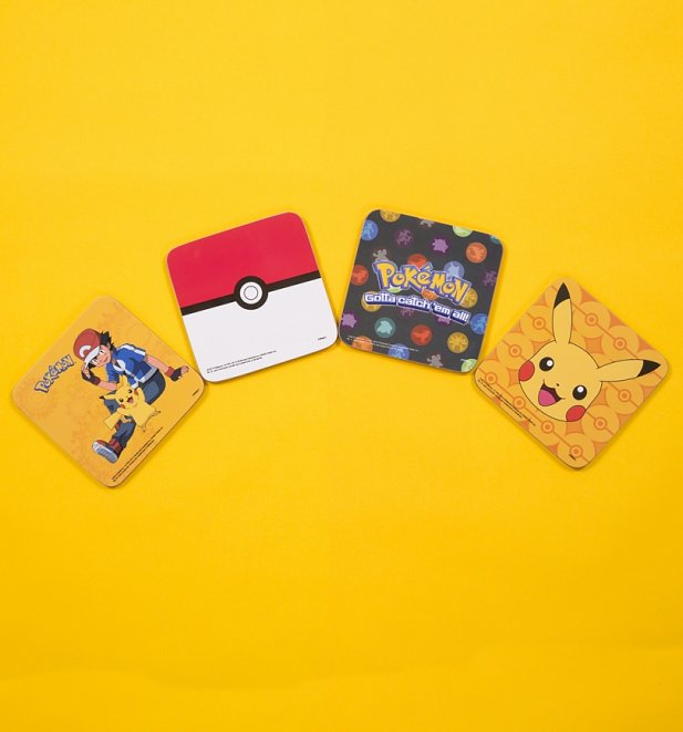 Pokemon Set of 4 Coasters