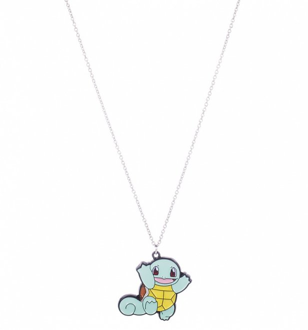 Pokemon Squirtle Enamel Pendant Necklace