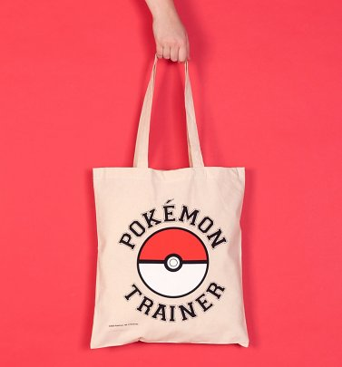 Pokemon Trainer Canvas Tote Bag