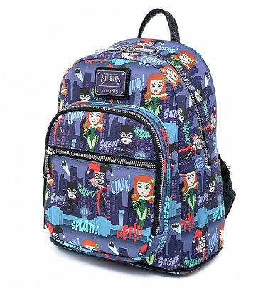 Pop by Loungefly DC Comics Ladies of DC All Over Print Mini Backpack