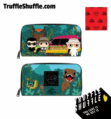 Pop by Loungefly Jurassic Park Gates Zip Around Wallet