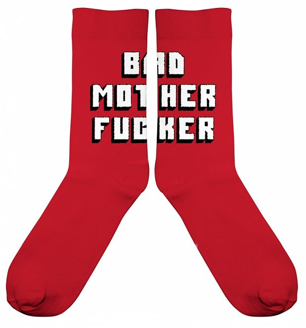 Pulp Fiction Bad Mother F****r Organic Cotton Socks from Dedicated