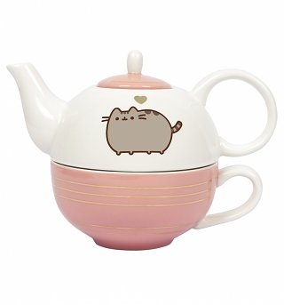 Pusheen Gold Leaf Tea For One Set