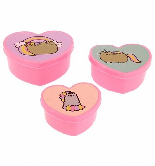 Pusheen Heart Shaped Storage Boxes