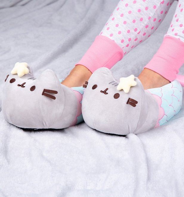 Pusheen Mermaid 3D Slippers