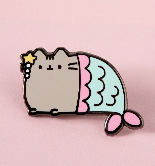 Pusheen Mermaid Enamel Pin from Punky Pins