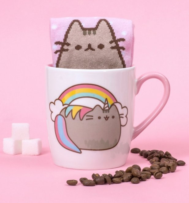 Pusheen Marshmallow Socks And Mug Gift Set