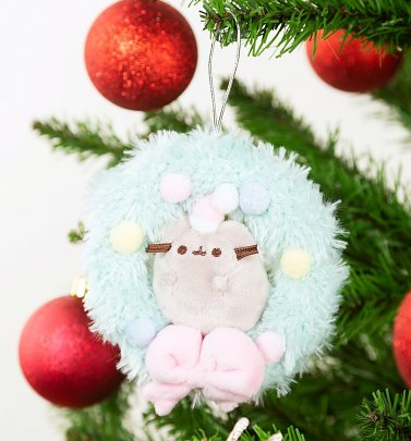 Pusheen Wreath Christmas Ornament