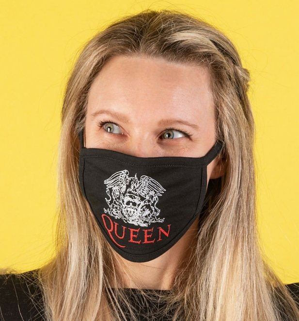 Queen Crest Logo Face Mask