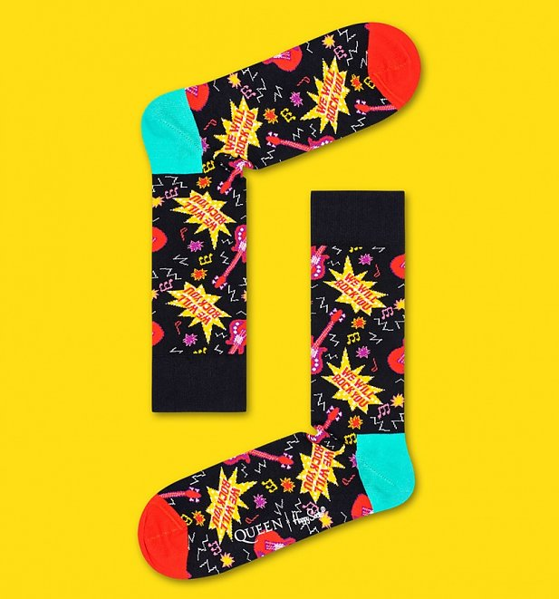 Queen We Will Rock You Socks from Happy Socks