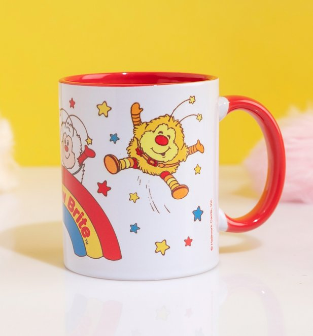 Rainbow Brite And Sprites Red Handle Mug