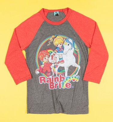 Rainbow Brite Grey And Red Baseball Shirt