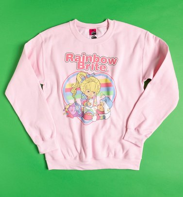 Rainbow Brite Heart Light Pink Sweater