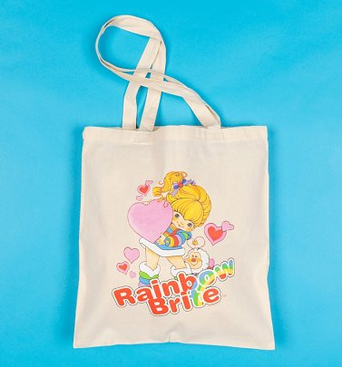 Rainbow Brite Hearts Tote Bag