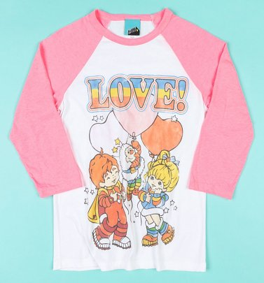 Rainbow Brite Love Raglan Baseball Shirt