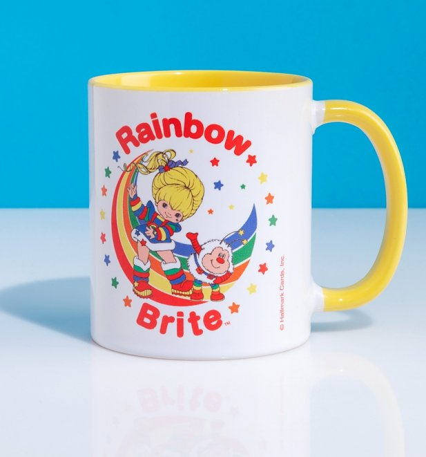 Rainbow Brite Stars Yellow Handle Mug