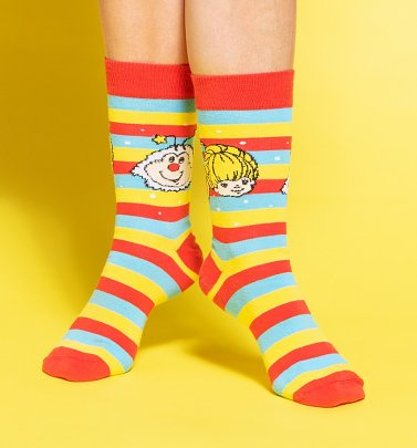 Rainbow Brite Striped Socks