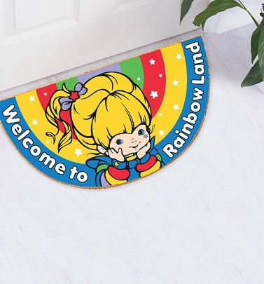 Rainbow Brite Welcome To Rainbow Land Sparkly Door Mat