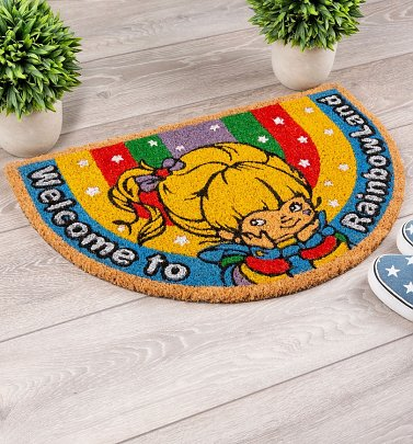 Exclusive Rainbow Brite Welcome To Rainbow Land Sparkly Door Mat
