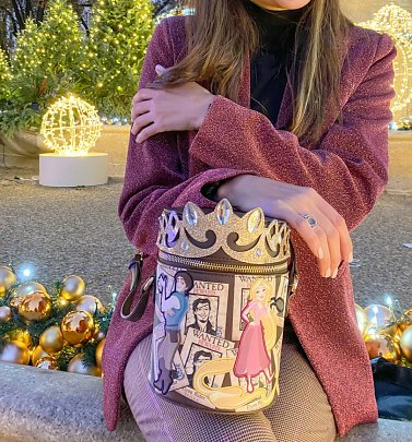 Rapunzel Wanted Disney Tangled Cylinder Crossbody Bag from Danielle Nicole