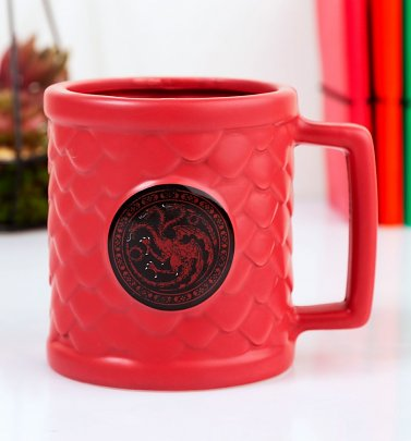 Red Game Of Thrones Targaryen 3D Scales Mug
