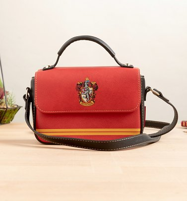 Red Harry Potter Gryffindor Crest Satchel Bag