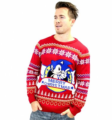 Sonic The Hedgehog Red Christmas Jumper