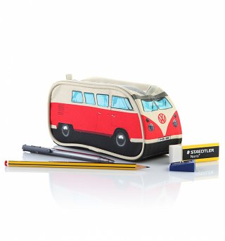 Red VW Campervan Pencil Case
