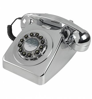 Retro 746 Chrome Brushed Telephone from Wild & Wolf