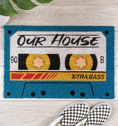 Retro Cassette Our House Mix Tape Embossed Door Mat