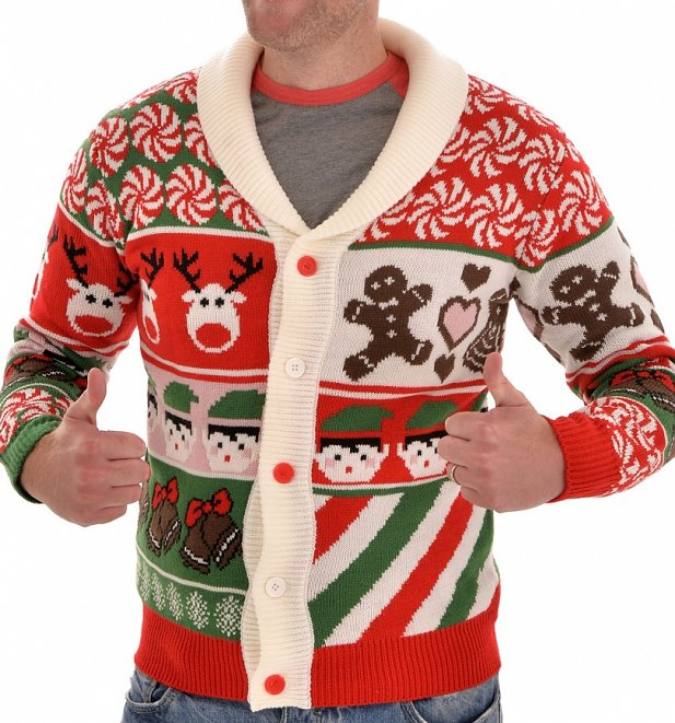 Retro Elfy Christmas Knitted Cardigan from Cheesy Christmas Jumpers
